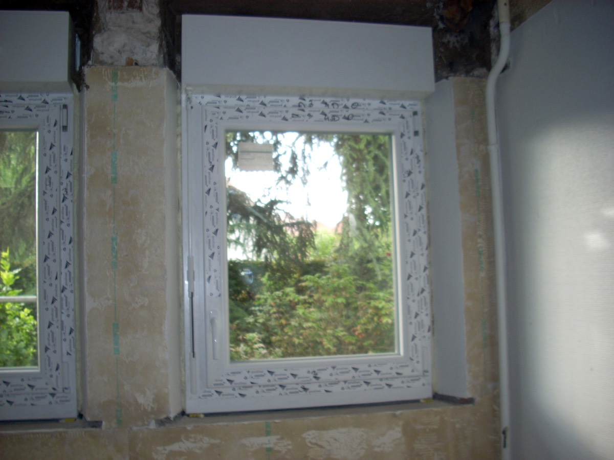 7 Pose De Fenêtre Double Vitrage Avec Caisson Volet Roulant Intégré